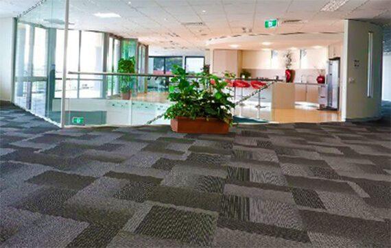 ofis karo halı modelleri gri siyah