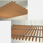baffle asma tavan metal ahsap gorunumlu panel