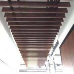 baffle kahverengi vinil kaplamali panel