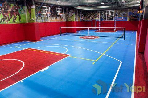Spor PVC zemin kaplama Basketbol hentbol tenis