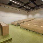 Üniversite linolyum zemin kaplama derslik dershane yeşil