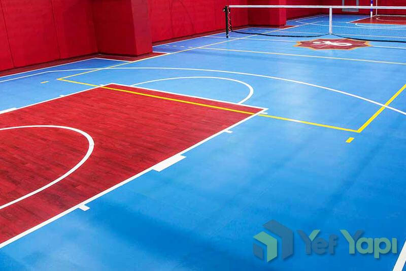 Ahşap görünümlü PVC spor salonu zemin kaplama