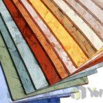Akustik PVC zemin kaplama renk kartelası