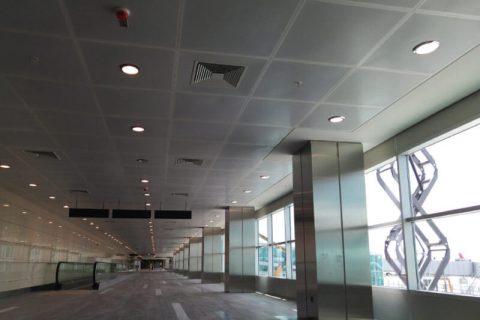 Hook on metal asma tavan sistemleri Atatürk Hava Limanı