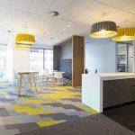 Karo Halı Fiyatları Ofis Gri Sarı Yeşil