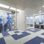 PVC karo zemin kaplama mavi beyaz