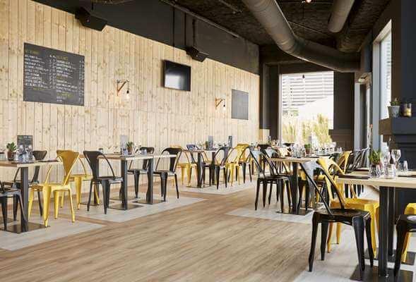 PVC lvt zemin kaplama kafe tasarımı