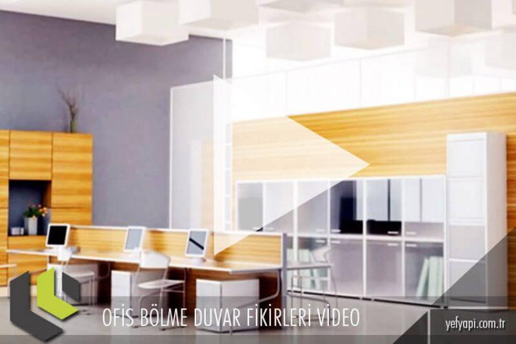 Ofis Bölme Duvar Fikirleri Video