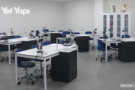 Laboratuvar linolyum zemin döşeme fiyat 9
