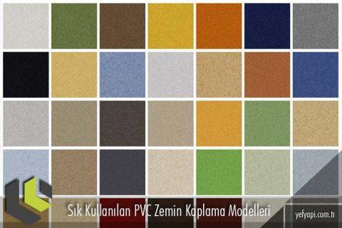 Sık Kullanılan PVC Zemin Kaplama Modelleri