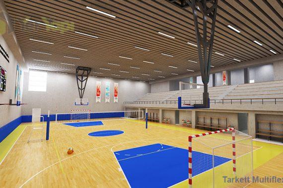 Ahşap Spor Parke Zemin Kaplama Çok Amaçlı