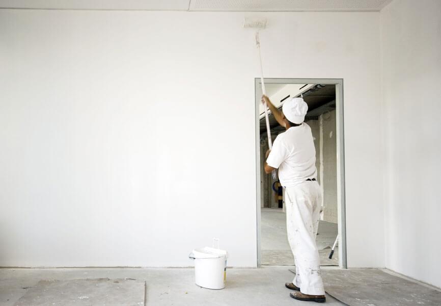 Alçıpan duvar boyama