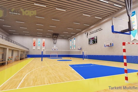 Hentbol Ahşap Parke Zemin Kaplama Spor Salonu
