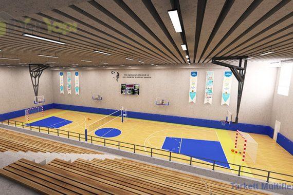 Kapalı Basketbol Salonu Zemin Kaplama Fiba
