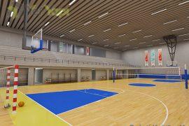 Adem Ceylan Lisesi Fiba Onaylı Ahşap Spor Zemin