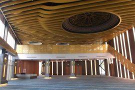 Maslak 1453 Cami Projesi, Eğrisel Özel Baffle Asma Tavan Uygulaması